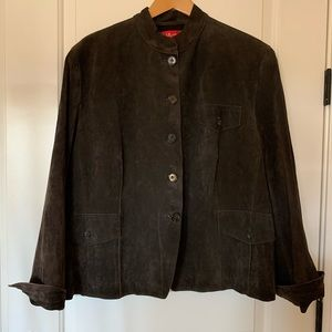 Ann Klein brown suede jacket. Size 3x